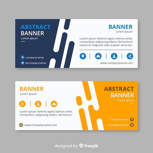 Bandiere di affari astratti Vettore gratuito
