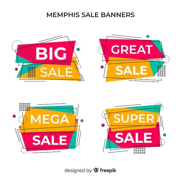 Bandiere di vendita di memphis Vettore gratuito