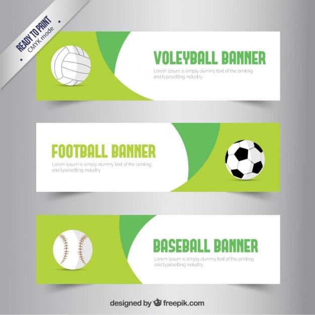 Bandiere sport Vettore gratuito