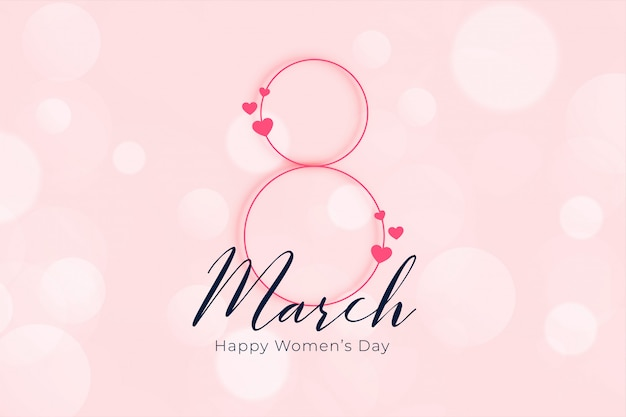 Banner 8 marzo festa della donna felice elegante Vettore gratuito