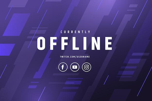 Banner astratto twitch offline Vettore gratuito