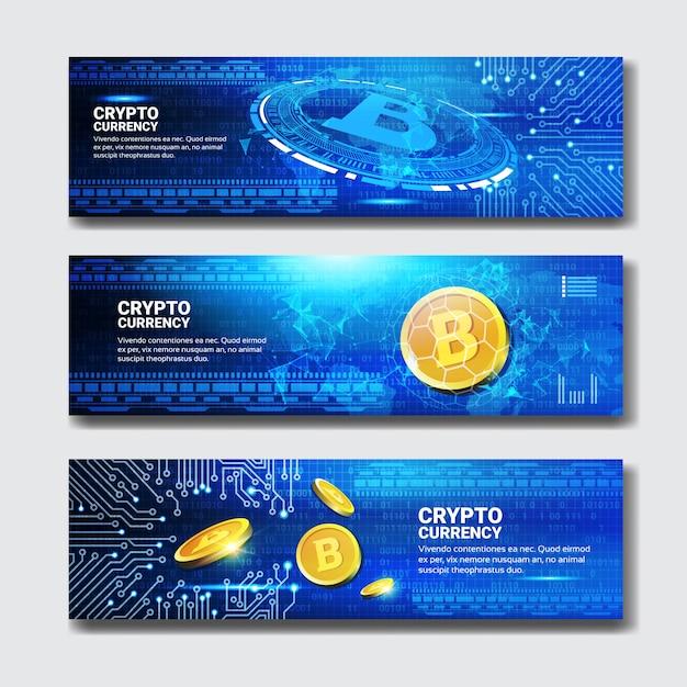 Banner bitcoin Vettore Premium