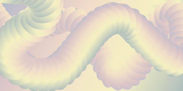 Banner con un design astratto in 3d Vettore gratuito