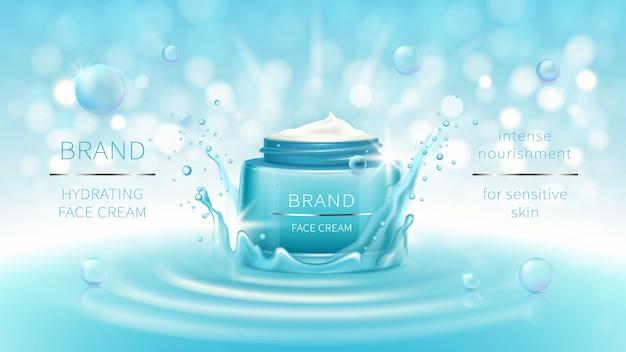 Banner cosmetico vettoriale o marchio di promozione Vettore gratuito