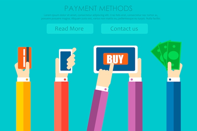 Banner dei metodi di pagamento Vettore gratuito