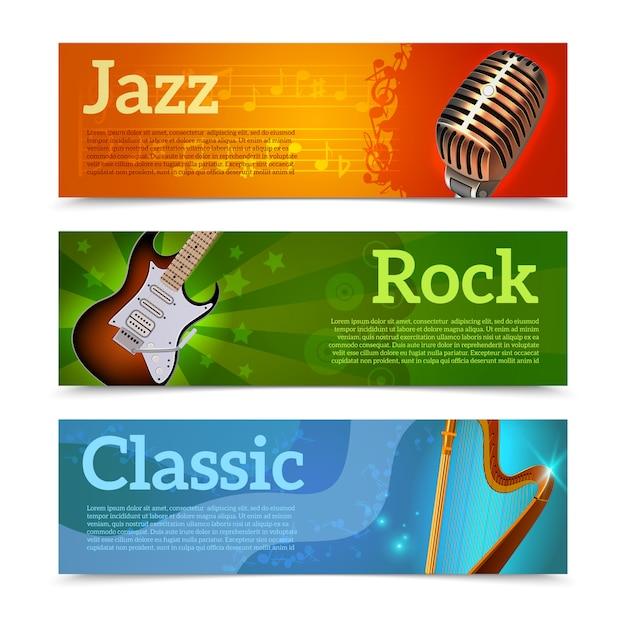 Banner del festival della musica Vettore gratuito