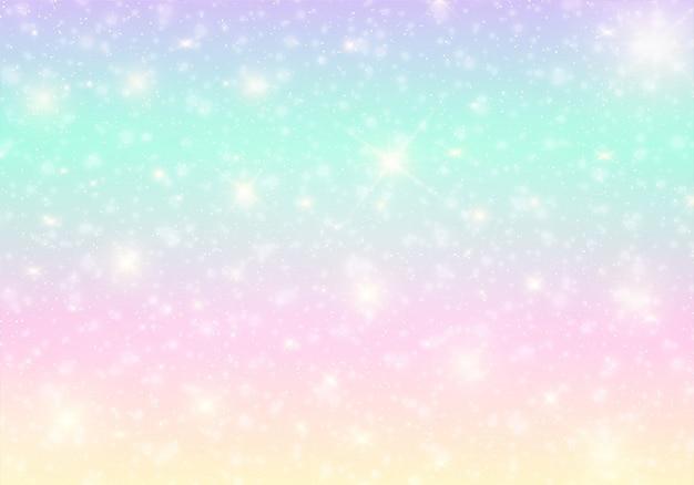 Banner dell'universo kawaii in colori principessa. Vettore Premium
