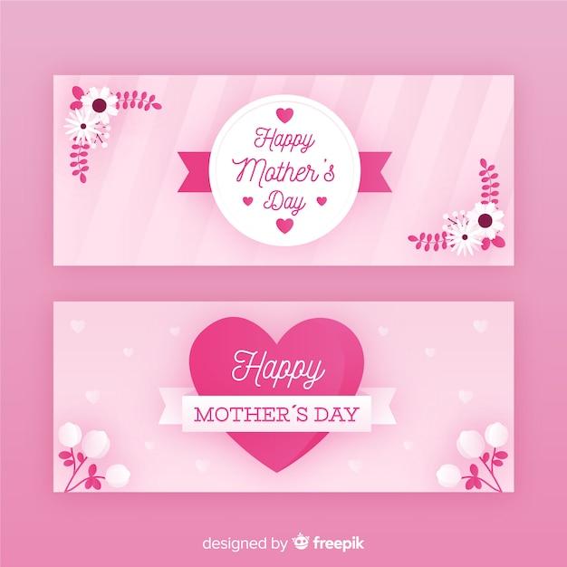 Banner della festa della mamma Vettore gratuito