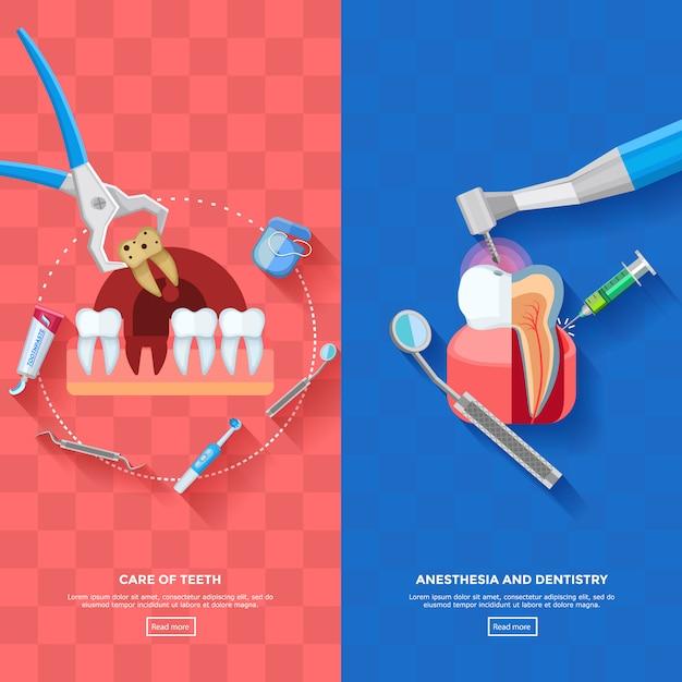Banner dentista verticale Vettore gratuito