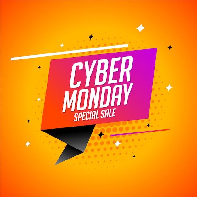 Banner design moderno cyber lunedì vendita speciale Vettore gratuito