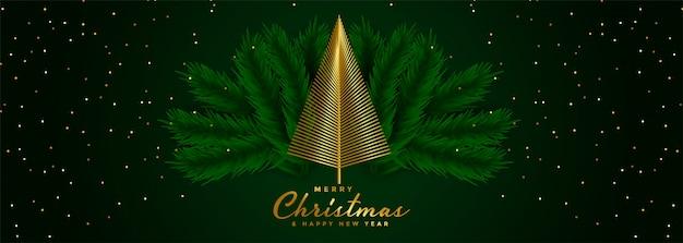 Banner di buon natale e felice anno nuovo Vettore gratuito