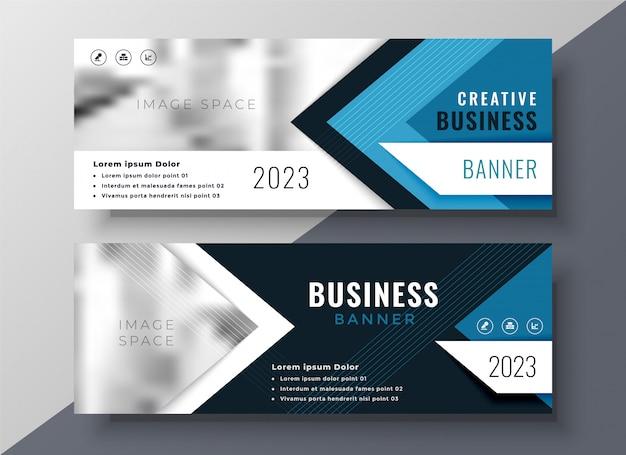 Banner di business professionale in stile geometrico Vettore gratuito