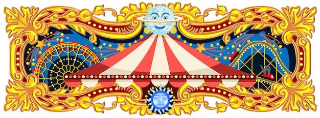 Banner di circo di carnevale Vettore Premium