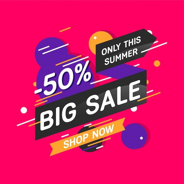 Banner di colori moderni di grande vendita Vettore Premium