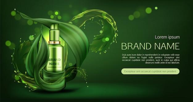 Banner di crema per la cura della pelle naturale Vettore gratuito