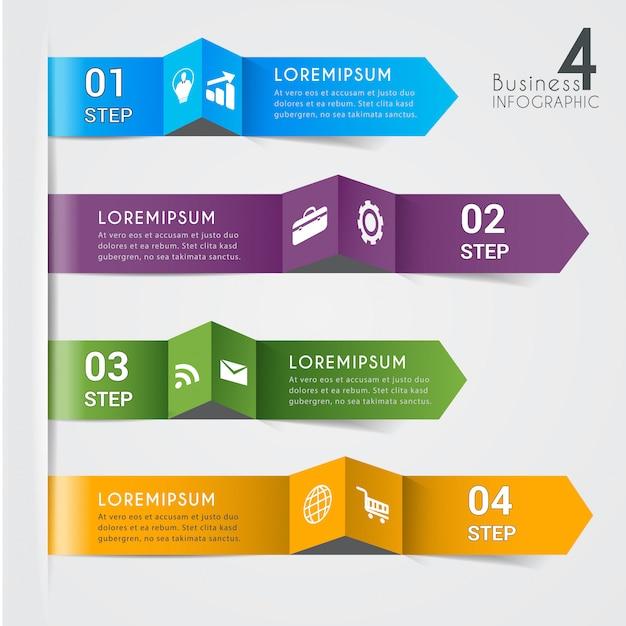 Banner di elemento moderno infografica Vettore Premium