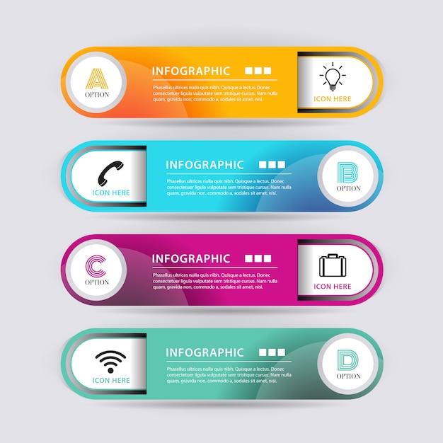 Banner di forma astratta infografica Vettore gratuito