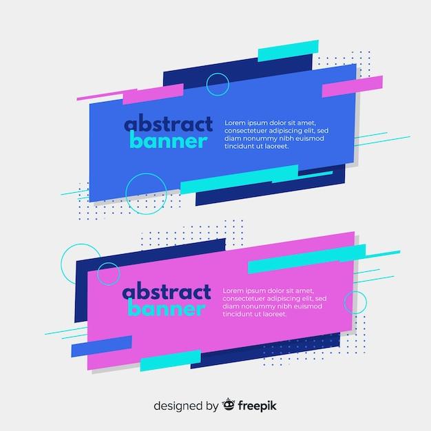 Banner di forme geometriche colorate Vettore gratuito