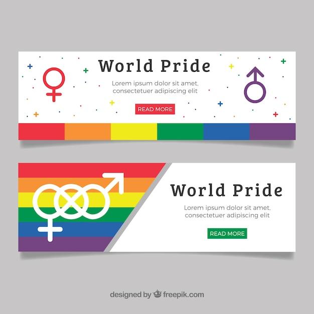 Banner di giornata di orgoglio Vettore gratuito