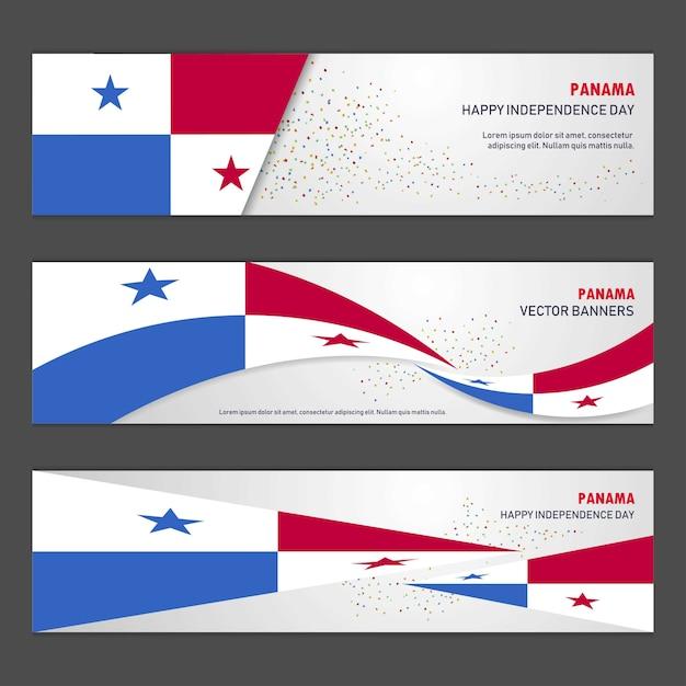 Banner di giorno dell'indipendenza di panama Vettore gratuito