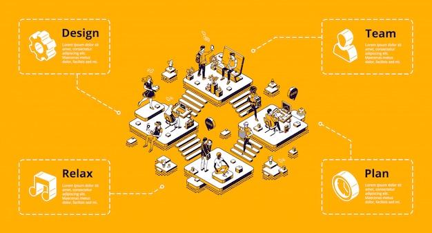 Banner di infografica organizzazione aziendale Vettore gratuito