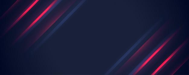 Banner di linee rosse digitali incandescente elegante Vettore gratuito