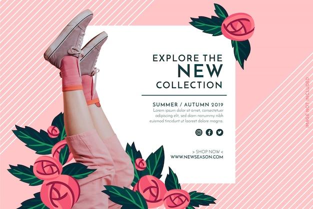 Banner di moda promozione Vettore gratuito