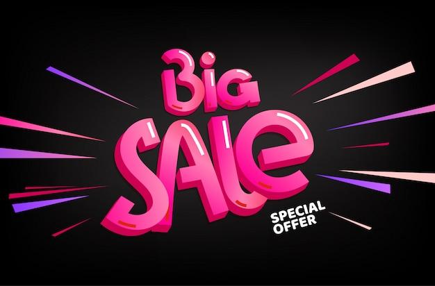Banner di offerta speciale grande vendita Vettore Premium