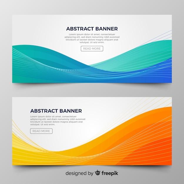 Banner di onda astratta Vettore gratuito