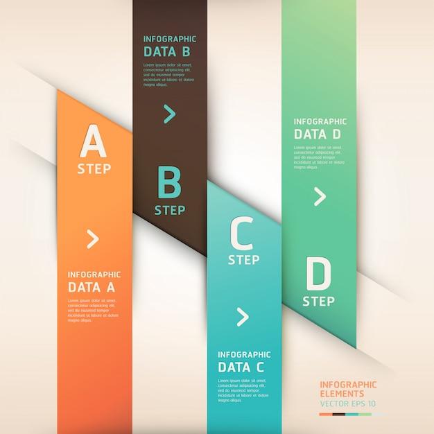 Banner di opzioni di stile origami moderno. Vettore Premium