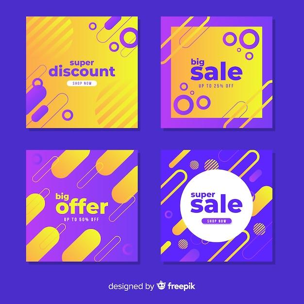 Banner di promozione di vendita per i social media Vettore gratuito