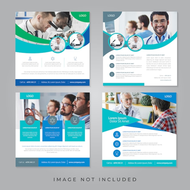Banner di social media medico Vettore Premium