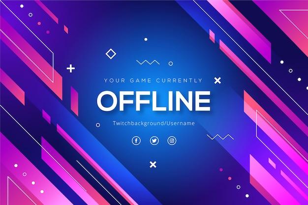 Banner di twitch offline di forme astratte Vettore gratuito