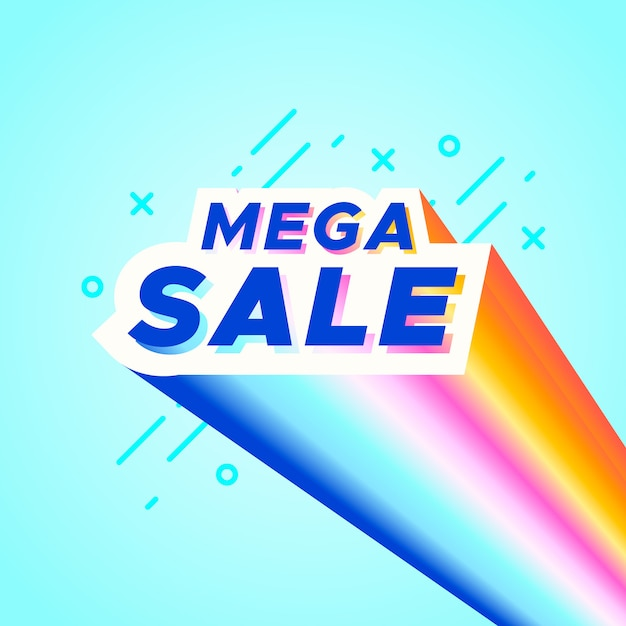 Banner di vendita colorato Vettore gratuito