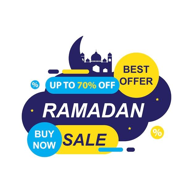 Banner di vendita del ramadan Vettore Premium