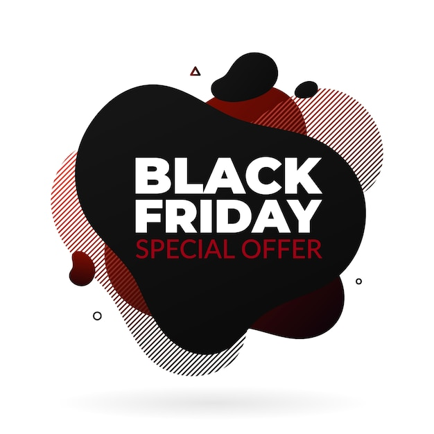 Banner di vendita di black friday Vettore Premium