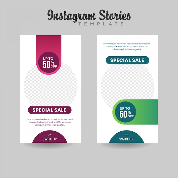 Banner di vendita di stories instagram Vettore Premium
