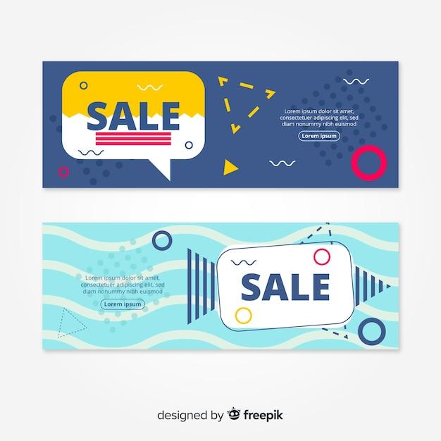 Banner di vendita goemetric Vettore gratuito