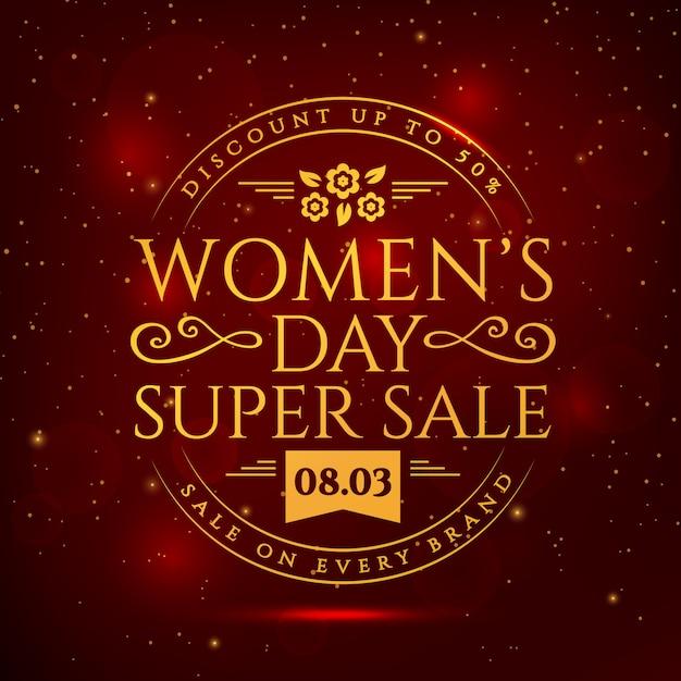 Banner di vendita per la festa della donna. Vettore Premium
