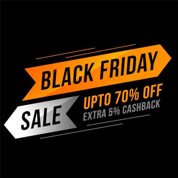 Banner di vendita venerdì nero in stile moderno Vettore gratuito