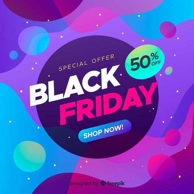 Banner di vendita venerdì nero sfumato Vettore gratuito