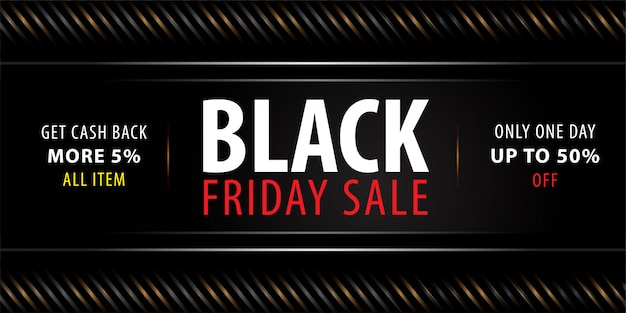 Banner di vendita venerdì nero Vettore Premium