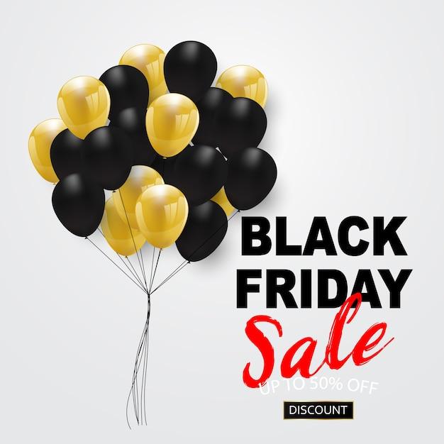 Banner di vendita venerdì nero, Vettore Premium