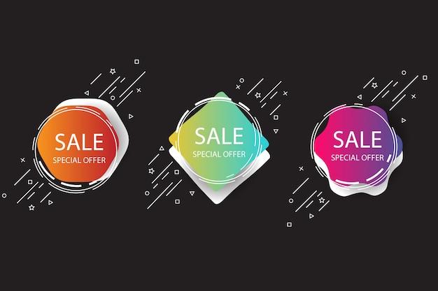 Banner di vendita vettoriale Vettore gratuito