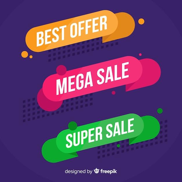 Banner di vendita Vettore gratuito