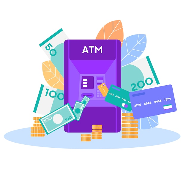 Banner di vettore di archiviazione denaro moderno e tradizionale Vettore Premium