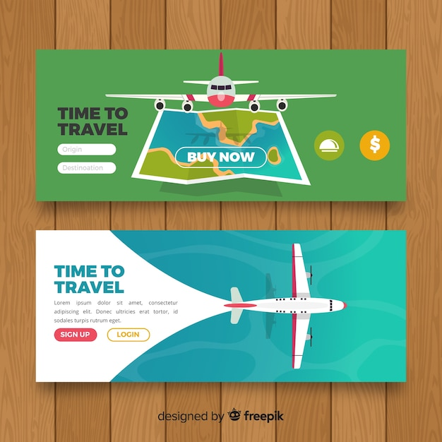Banner di viaggio Vettore gratuito