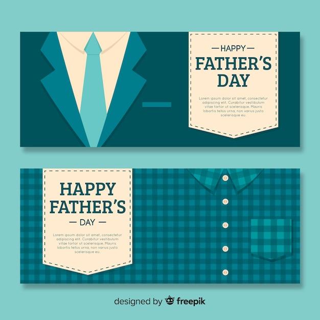 Banner festa del papà Vettore gratuito