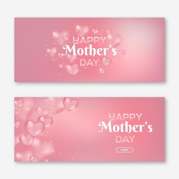 Banner festa della mamma offuscata Vettore gratuito