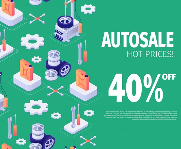 Banner for autosale special discount offer Vettore Premium